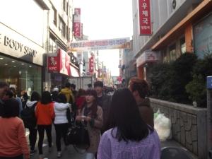 Downtown Gwangju, taken with Fuji FinePix